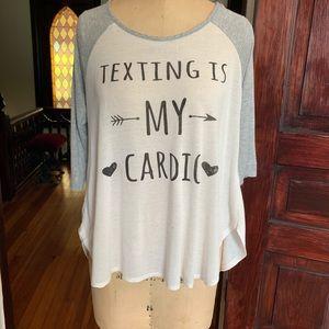 Threads Studio Texting Cardio T-shirt Medium EUC